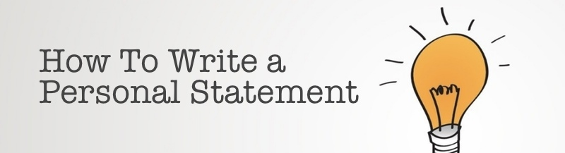 How to write a statement