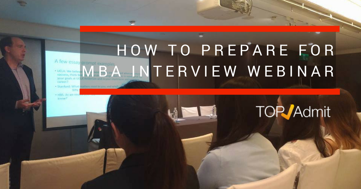 How to prepare for MBA interview video