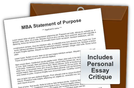mba sop essays Ten tips for perfectly pitched essays com too many mba applicants neglect the statement of purpose portion of their the mba admission essay comes.