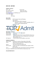 Before Admission Resume Sample