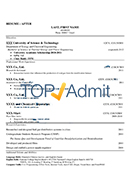 after cv sample - College Admissions Resume Template